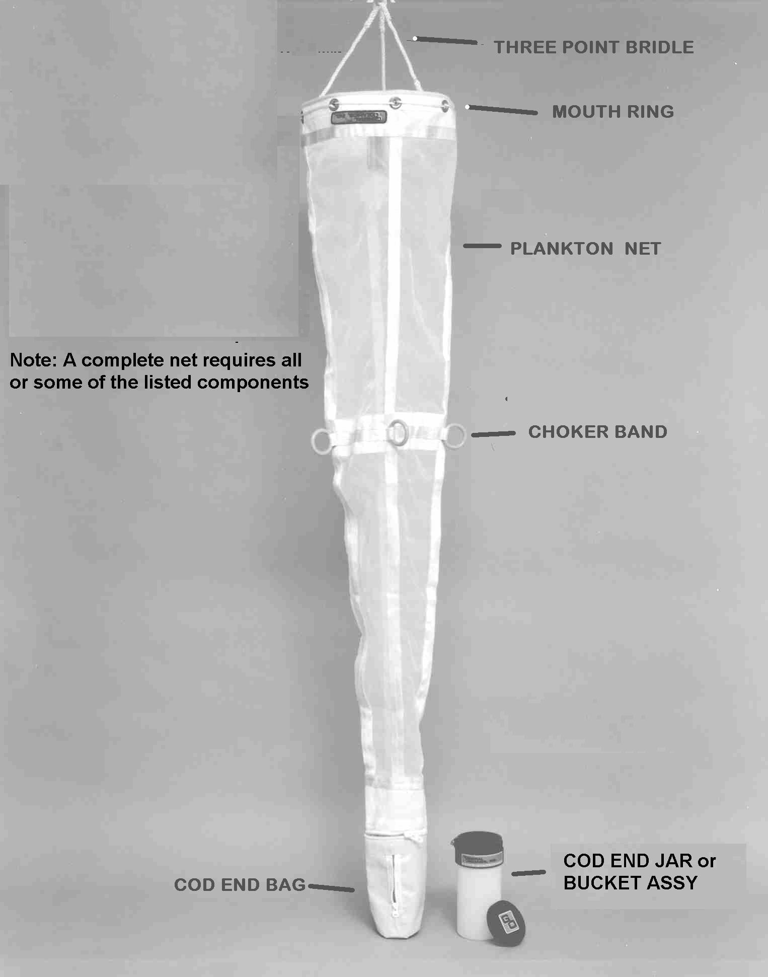 Plankton Net Assembly 30cm Dia. 3/1 Size