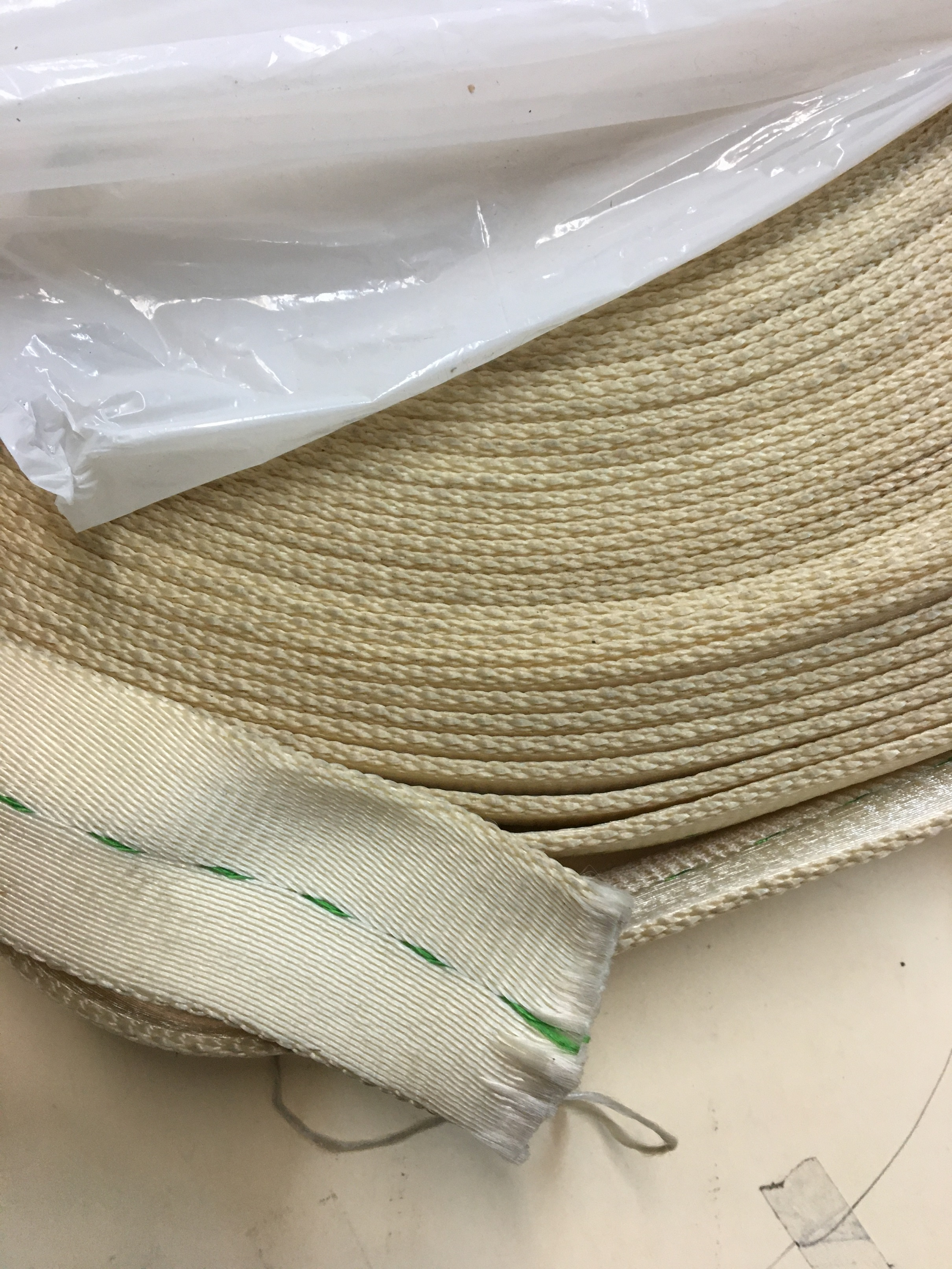 "WEBBING, 2"" WIDE, NATURAL NYLON"