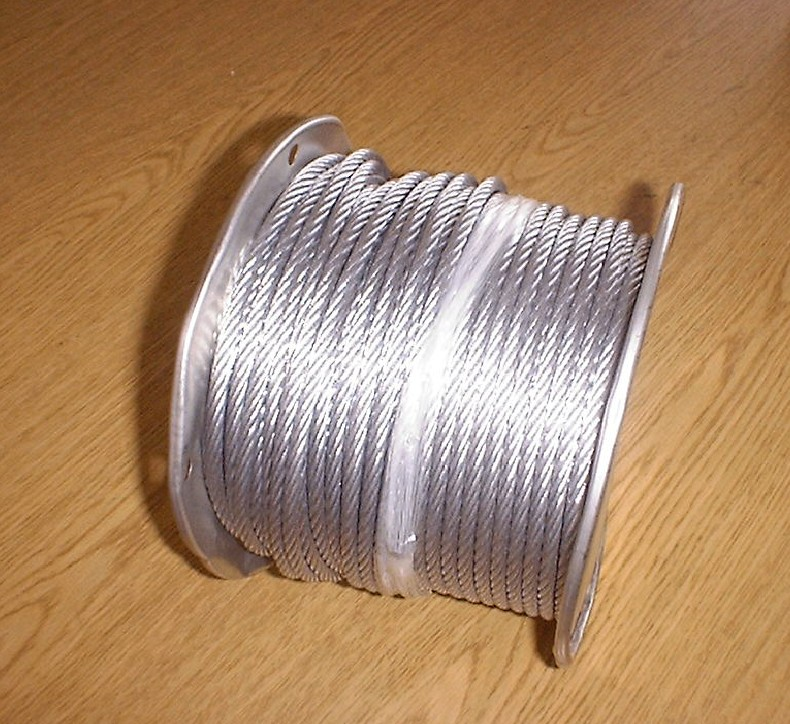 "Rope, Wire 1/4"" 7X19 Galvanized"
