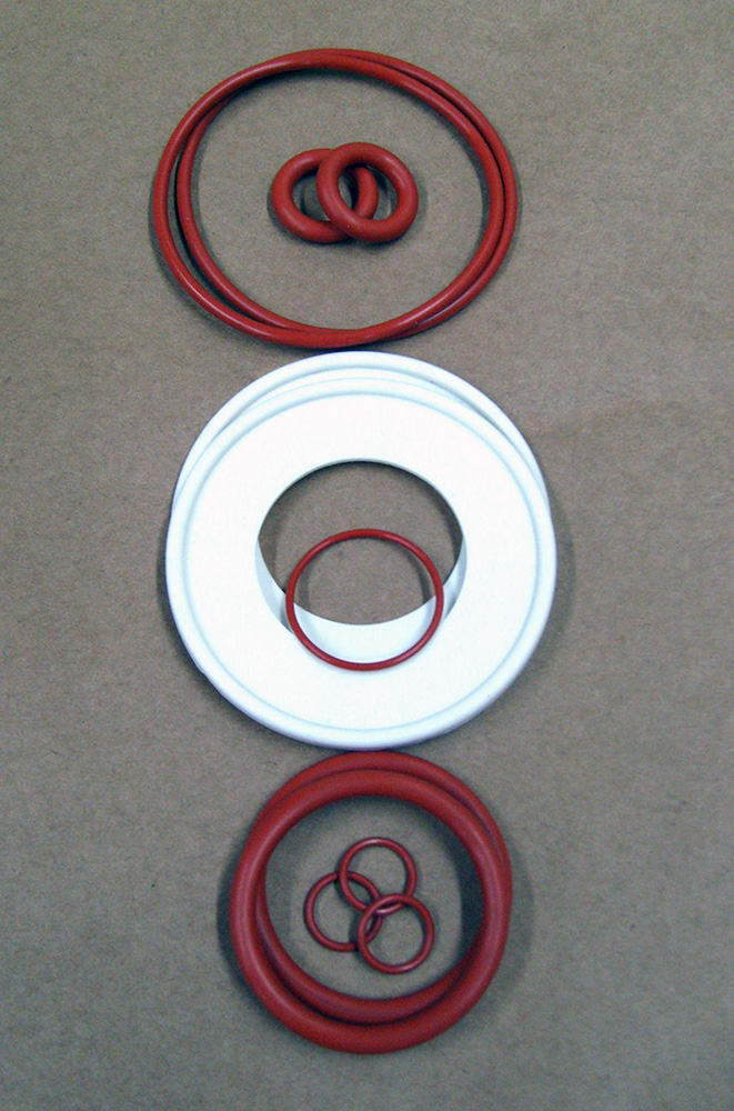 O-Rings For 1.7-2.5L Go-Flo Bottle Kit Silicone